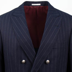 Cashmere Blend Double Breasted Sport Coat // Blue (Euro: 44)