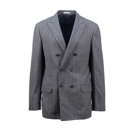 Wool Double Breasted Sport Coat // Gray (Euro: 44)
