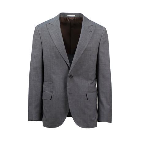 Wool Peak Lapels Sport Coat // Gray (Euro: 44)