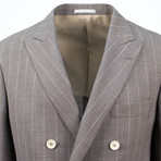 Striped Wool Double Breasted Sport Coat // Gray (Euro: 44)