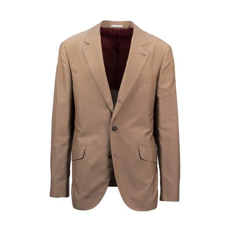 Wool Blend Sport Coat // Tan (Euro: 44)