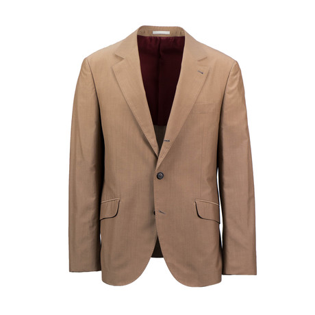 Wool Blend Sport Coat // Natural
