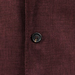 Wool Blend Sport Coat // Burgundy Red (Euro: 44)