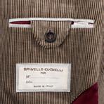 Cashmere Blend Corduroy Sport Coat // Brown (Euro: 44)