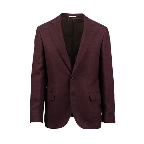 Wool Blend Sport Coat // Burgundy Red (Euro: 44)