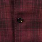 Plaid Wool Blend Sport Coat // Red (Euro: 44)