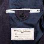 Wool Blend Double Breasted Sport Coat // Purple (Euro: 44)
