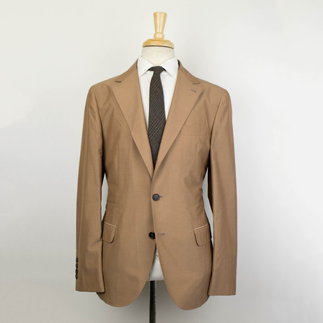 Wool Blend Unstructured Sport Coat // Tan