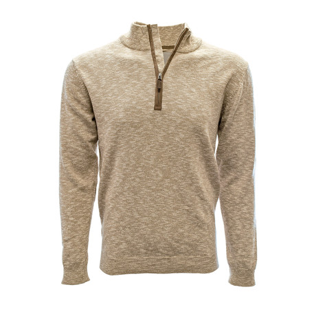 Marina 1/4 Zip Sweater // Heather Camel (S)