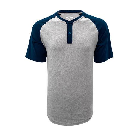 Chief T-Shirt // Heather Pebble + Navy