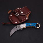 Damascus Karambit Folding Knife // 2661