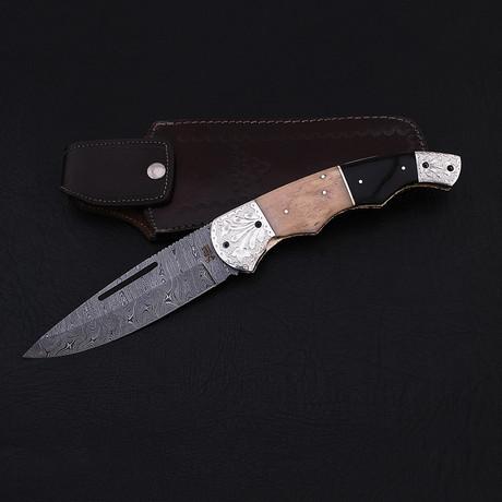 Damascus Giant Folding Knife // 2664