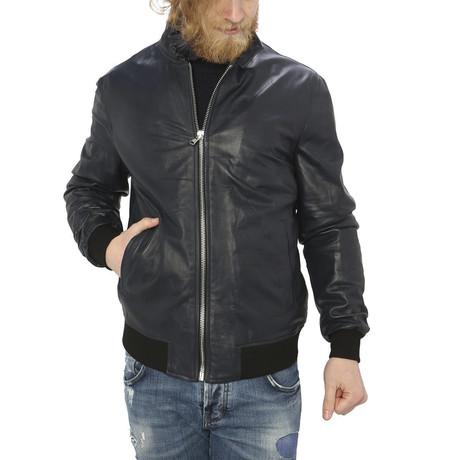 Smith Leather Jacket // Blue (S)