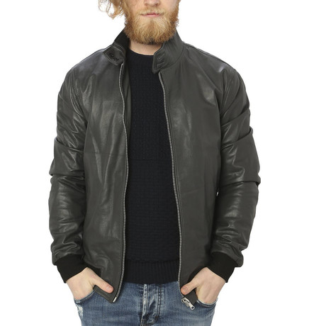 Cullen Leather Jacket // Gray (S)
