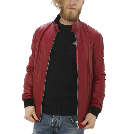 London Leather Jacket // Red (S)