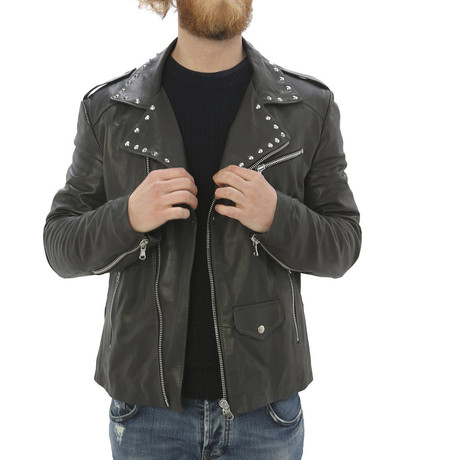 Kennedy Leather Jacket // Gray (S)