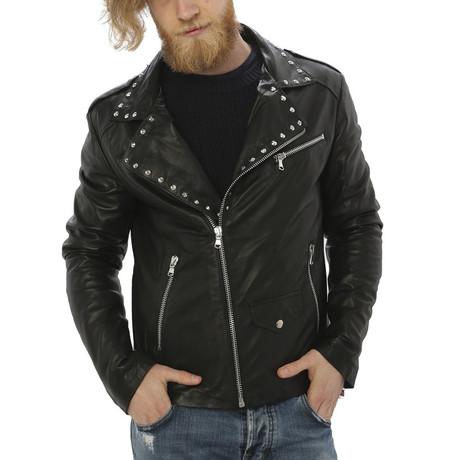Kennedy Leather Jacket // Midnight Black (S)