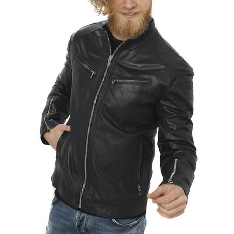Kendall Leather Jacket // Black (S)