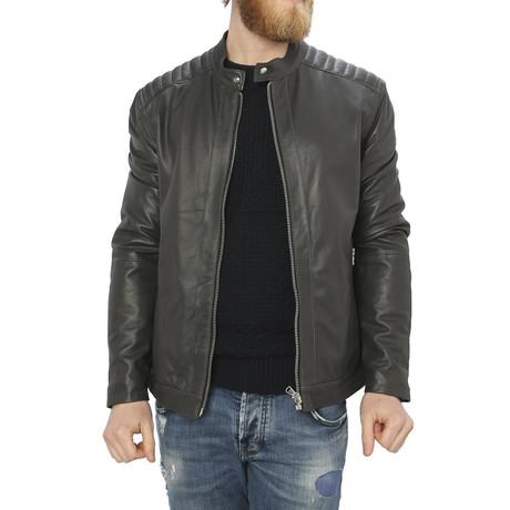 Arlo Leather Jacket // Gray (S)