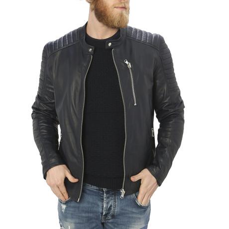 Holden Leather Jacket // Blue (S)