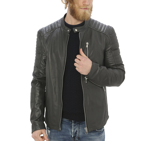 Holden Leather Jacket // Gray (S)