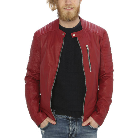 Holden Leather Jacket // Red (S)
