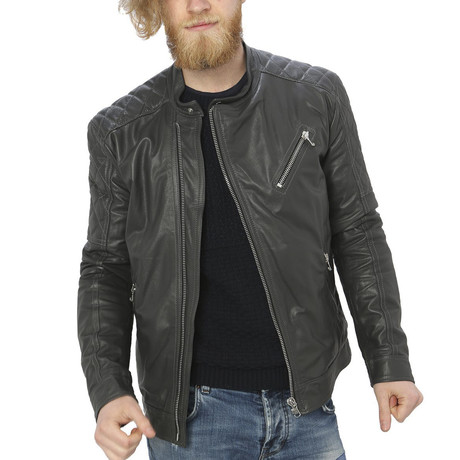 Milo Leather Jacket // Gray (S)