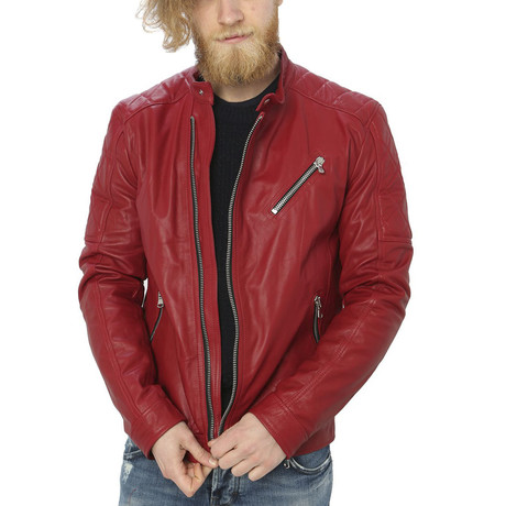 Milo Leather Jacket // Red (S)