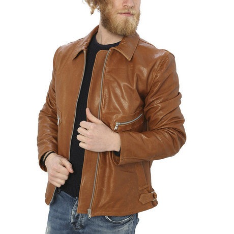 Pax Leather Jacket // Leather (S)