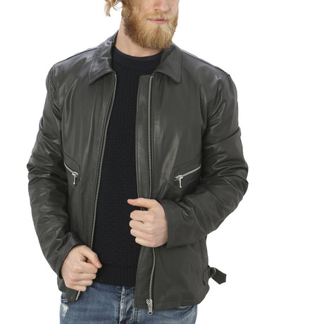 Pax Leather Jacket // Gray (S)