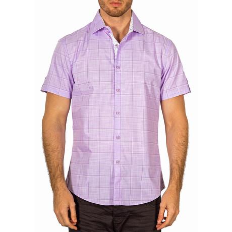 Jacob Short Sleeve Button-Up Shirt // Lilac