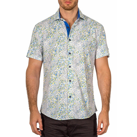 Elijah Short Sleeve Button-Up Shirt // Yellow