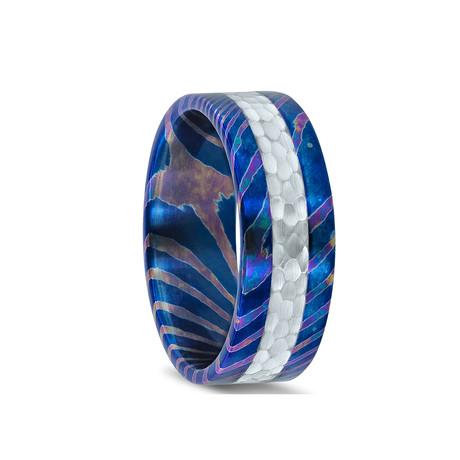 Alt. Fusion Damascus Steel Ring // Aquarius
