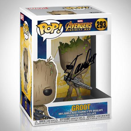 Infinity War Groot Funko Pop // Stan Lee Signed