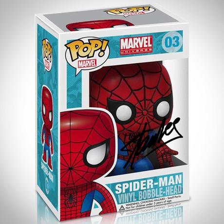 Spider Man Funko Pop // Stan Lee Signed