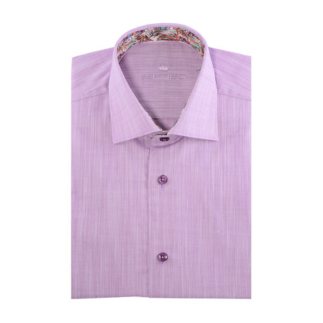 Chaz Button-Up // Solid Lilac