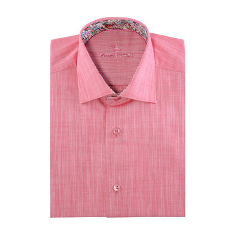 Chaz Button-Up // Solid Pink (2XL)