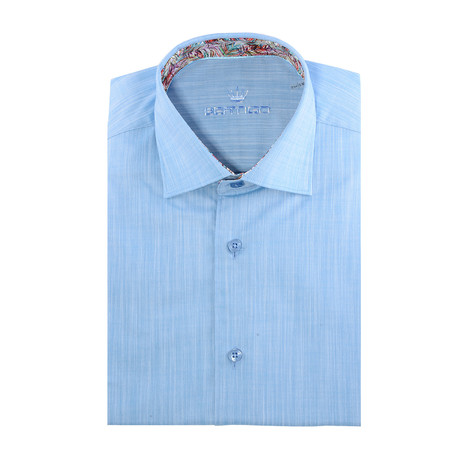 Chaz Button-Up // Solid Turquoise (XL)