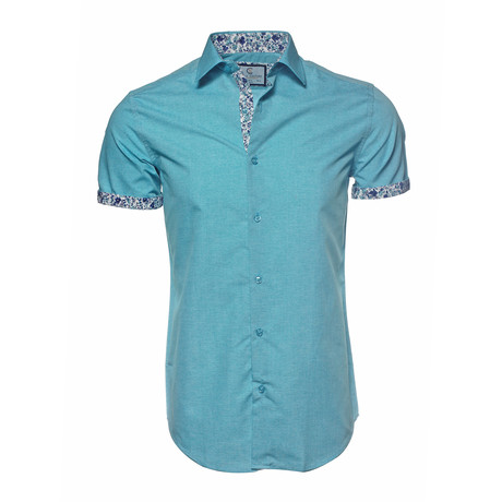 Dylan Button-Up Shirt // Turquoise