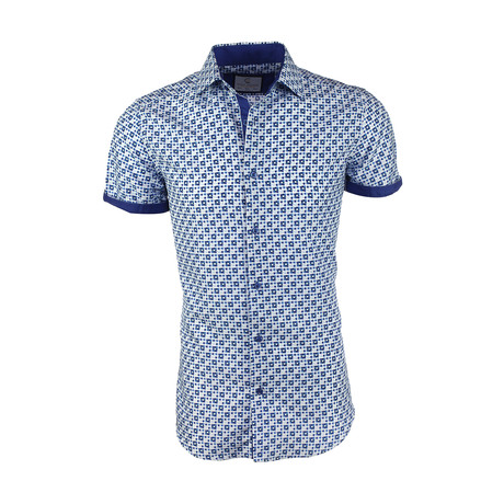 Owen Short-Sleeve Button-Up Shirt // Navy (XS)