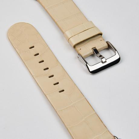 Genuine Alligator Apple Watch Strap // Almond Matte // 38mm
