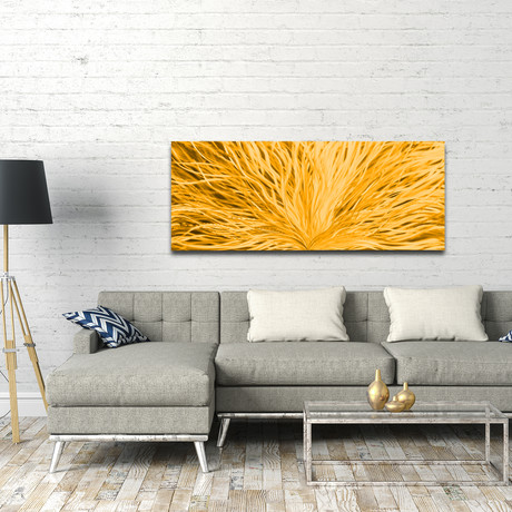 "Blooming // Gold (48""W x 19""H)"