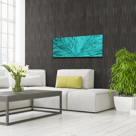 """Blooming // Teal (48""""W x 19""""H)"""