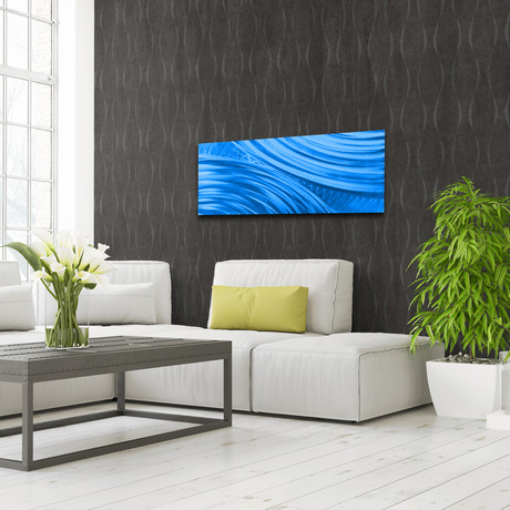 """Moment of Impact // Blue (48""""W x 19""""H)"""