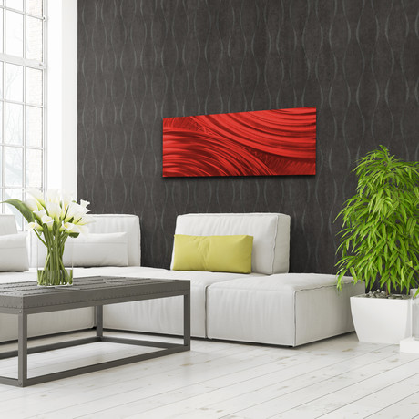 "Moment of Impact // Red (48""W x 19""H)"