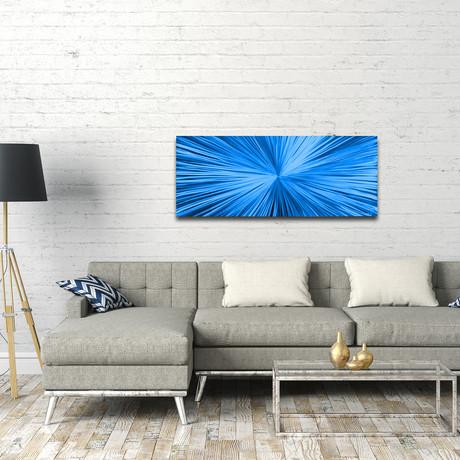 """Starburst // Blue (48""""W x 19""""H)"""