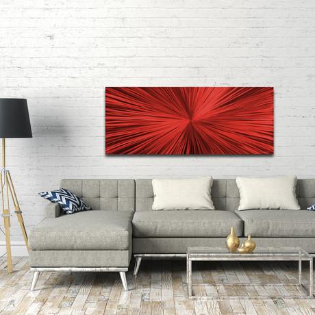 """Starburst // Red (48""""W x 19""""H x 0.5""""D)"""