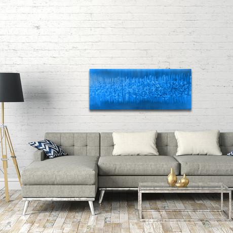 "Static // Blue (48""W x 19""H)"