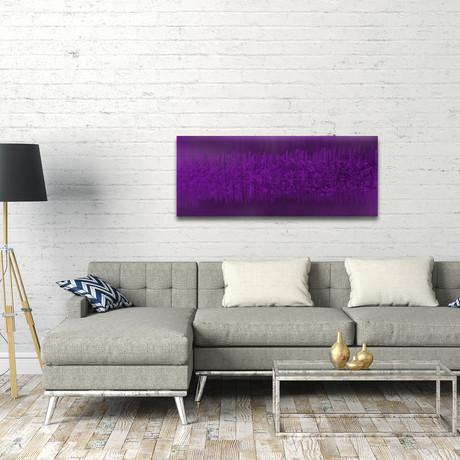 "Static // Purple (48""W x 19""H)"