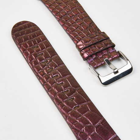 Genuine Alligator Apple Watch Strap // Aubergine